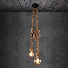 Apply to E27 bulb( not included). Bulb Type: E27 Bulb (Not Included). Do you want a light decoration that gives some special feeling?. Our hemp rope pendant light will be your best choice. Ideal lighting decoration for parlor, living room, restaurant, bar, corridor, themed party etc. | eBay!