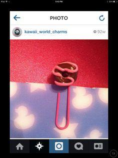 Donut paper clip