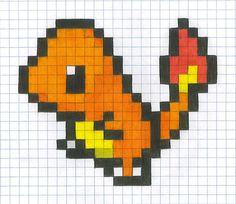 Graph Paper Charmander by *yodana on deviantART