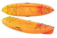 Ocean Kayak Frenzy Sit-On-Top Recreational Kayak, Sunrise Kayak Camping, Kayak Fishing, Used Kayaks, Kayak For Beginners, Ocean Kayak, Recreational Kayak, Kayaking Tips, Kayak Storage, Inflatable Kayak