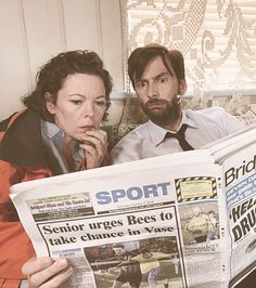 BROADCHURCH with Olivia Colman as DS Ellie Miller and David Tennant as DI Alec Hardy.