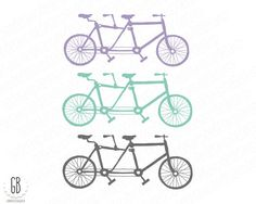 Tandem bicycle clip art heart shaped balloons by GrafikBoutique