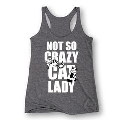 Not So Crazy Cat Lady - Adult Ladies Triblend Racerback Tank