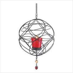 Hanging Wrought Iron Webwork Votive Candleholder Cage US $8.87 Ships to:United States