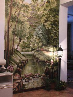 роспись стены в прихожей частного дома. - Дизайн - Интерьер
