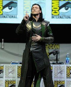Tom Hiddleston at Comic Con 2013