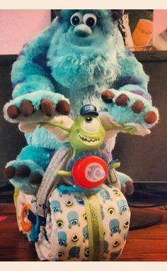 Monster Inc Motorcycle Theme Diaper Cake From Krazy Kakes Boutique By Liane