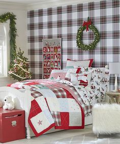 Plaid Sheets: This regal red tartan collection brings bold color and tailored style to the bed, for the holidays and beyond.