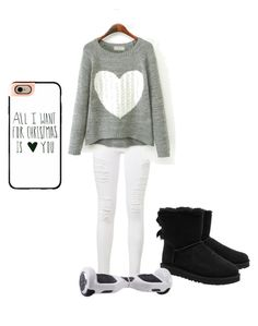 """""""Christmas"""" by shani-davis-1 on Polyvore featuring Frame Denim, UGG Australia and Casetify"""