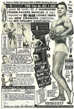 Hyper-macho, super-busy old body-building ad - Boing Boing