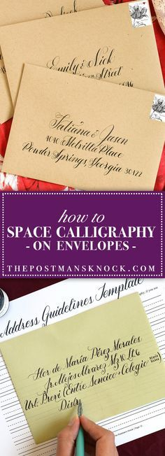 How to Space Calligraphy on Envelopes | The Postman's Knock :: No matter how amazing your calligraphy skills are, it can prove challenging to space calligraphy on envelopes. This blog post features tips and tricks to make it easier!