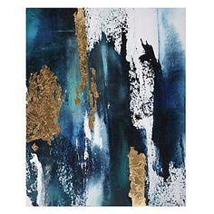 Bleu Et Sarcelle Blue Abstract Painting, Contemporary Abstract Art, Art Themes, Blue Art, Simple Art, Types Of Art, American Art, Canvas Art, Decoration