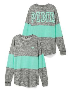 Blue and grey PINK long sleeve