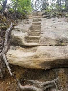 Stone stairs to the top of Double Arch. Red River Gorge Kentucky USA. #hiking #camping #outdoors #nature #travel #backpacking #adventure #marmot #outdoor #mountains #photography Hiking In Florida, Kentucky Camping, Kentucky Vacation, Utah Camping, Outdoor Camping, Camping Outdoors, Hiking Spots, Hiking Trails, Red River Gorge Kentucky