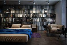 Wall, shelf, bed..