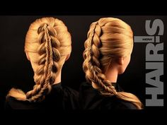 Делаем прическу «Коса в косе» своими силами - видеоурок (мастер-класс) Hair's How - YouTube