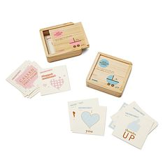 shower gift idea:  BABY MILESTONE CARDS from uncommongoods.com