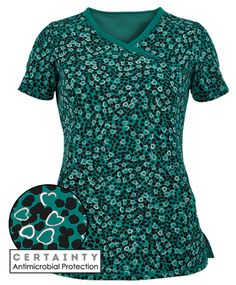 Cherokee Infinity Scrubs Not Heart To Find Antimicrobial Print Top Style # IN2628NO  #uniformadvantage #uascrubs #antimicrobial #protection #hearts