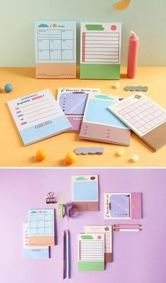 Sticky Notes / Weekly Planner / Checklist / Colorful Notepads / To Do List Notepad / Memo pad / Stationery / Scrapbooking