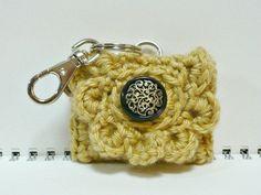 Key Chain Crochet Purse Coin Purse Change Purse by MelbaShoppe. $9.00, via Etsy.