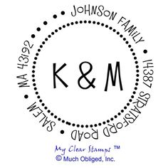 Custom Family Return Address Stamp with Two by myclearstamps, $16.50