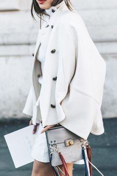 What to Wear This Weekend: Off-White Coat, Fringe Detail Shoulder Bag