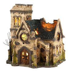 Snow Village Halloween - The Haunted Church