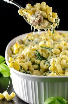 Ingredients: 1 lb. tube shaped pasta (I used cavatappi - could also use penne, rigatoni, etc.) Olive Oil 8 chicken tenders, sliced in strips salt & pepper 1 onion,