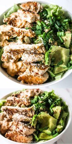 Avocado Chicken Salad (Low Carb / Keto) Healthy recipe for avocado chicken salad! - Avocado Chicken Salad (Low Carb / Keto) Healthy recipe for avocado chicken salad! Salad Recipes Low Carb, Low Carb Chicken Recipes, Chicken Salad Recipes, Healthy Recipes, Healthy Protein, Healthy Salads, Avocado Chicken Salad, Le Diner, Low Carb Keto