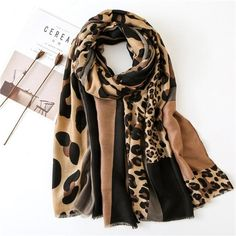 Leopard Scarf, Cheetah, Large Scarf, Lightweight Scarf, Cotton Scarf, E Design, Scarf Design, Shawls And Wraps, Scarf Styles