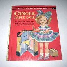 children's dolls from the 1950's | Ginger Paper Doll Vintage 1950s Children's by grandmothersattic