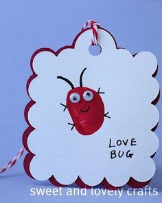"""We're making """"love bug"""" valentines and {thumb} body loves you. The hand print upside to make are heart is cute too. We tried them and they were a success!"""