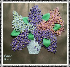"My first quilling project ""the lilac"" by erviana"
