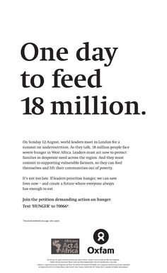 Another innovative way by to raise valuable support for One day to change the world. Poverty And Hunger, World Hunger, Good Cause, Felt Hearts, Together We Can, World Leaders, West Africa, Change The World, Vulnerability
