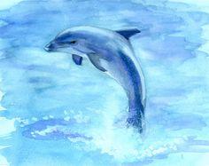 Animal Watercolor- Dolphin by *caroline-leideritz on deviantART