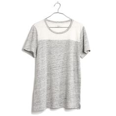 Linen Colorblock Homeplate Tee - tees & more - Women's NEW ARRIVALS - Madewell