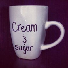 """""""Cream and sugar"""" coffee mugs This IS a custom made Christmas mug made specially by me! Must order at least a week before Christmas to receive on time!! Other"""