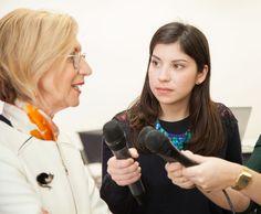 Los alumnos del máster universitario en Reporterismo e Investigación Periodística para Televisión en Madrid Womans Week.