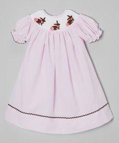 Love this Pink Bunny Seersucker Bishop Dress - Infant, Toddler & Girls by Barefoot Children's Clothing on #zulily! #zulilyfinds