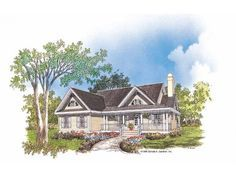 Country House Plan with 1428 Square Feet and 3 Bedrooms from Dream Home Source | House Plan Code DHSW41633
