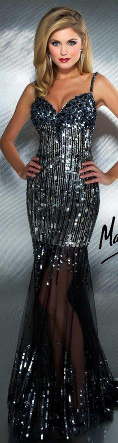 Mac Duggal couture dress black / gunmetal #long #short #dress #glitter MAC DUGGAL PROM STYLE 85092M