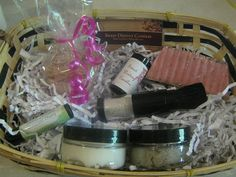 Maid of Honour Pampering Gift Basket by SweetDestinyCandles. Includes foot scrub, body butter, cupcake bath bomb, lip balm, soap and body bling make up brush (to apply a light dusting of glitter)