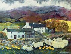 'Sheep Country' (1988) by Lisa Graa Jensen, Born in Søborg, Denmark.