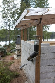Log Homes, Diy And Crafts, Pergola, Bbq, Outdoor Structures, Fire, Ramones, Cottage Ideas, Summer