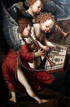 Jacob Cornelisz van Oostsanen (1470-1533) - Anges musiciens