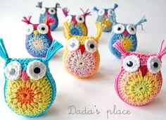 Dada's place: Little crochet owls