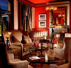 TGIF! It is snowy and beautiful in Santa Fe - perfect weather for warming up by the fireplace in the Staab House @LaPosadaSF with some cocktails. Have a great weekend!