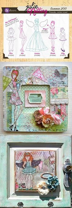 Prima doll mixed media frames