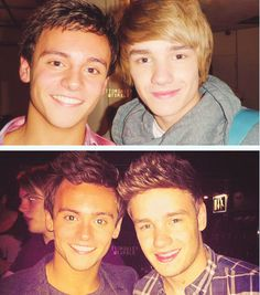 Tom and Liam, then and now. xx