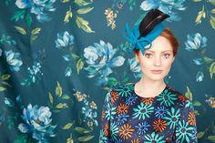 Turquoise ridge pillbox Winter 2017, Fall Winter, Autumn, Rachel Trevor Morgan, Saint James, Fashion Details, Snow White, Campaign, Turquoise